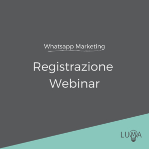 WhatsApp Marketing Registrazione Webinar